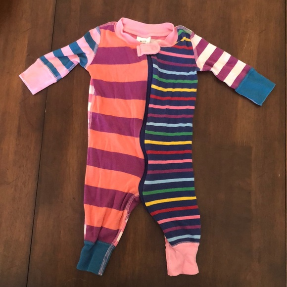 NEW Hanna Andersson Baby Girl Organic One Piece Cotton Pajamas 0-6 Months 50cm